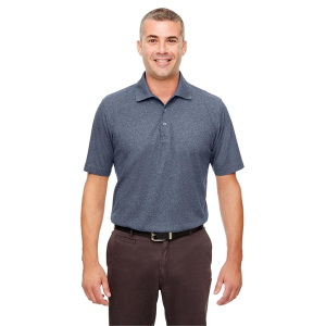 UltraClub® Men's Heathered Pique Polo